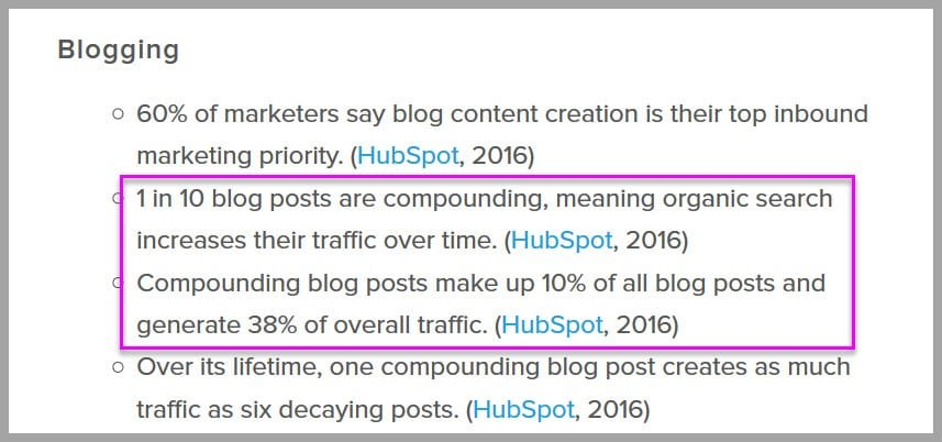 Promoted content builds backlinks