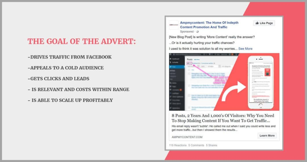 The high converting paid ad to content
