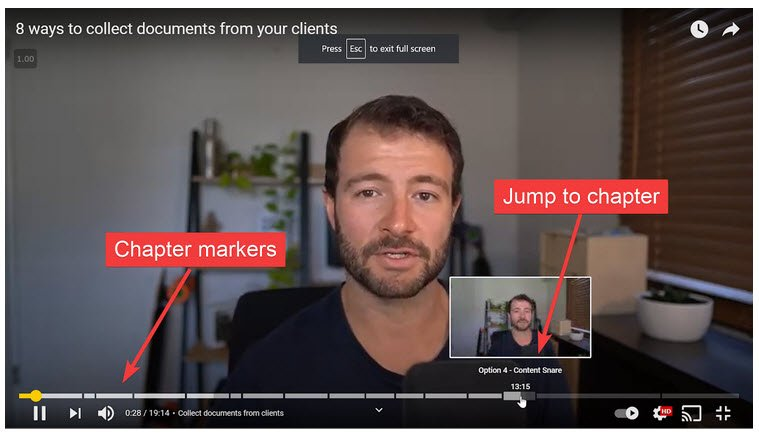 add chapters to your youtube videos to help it rank