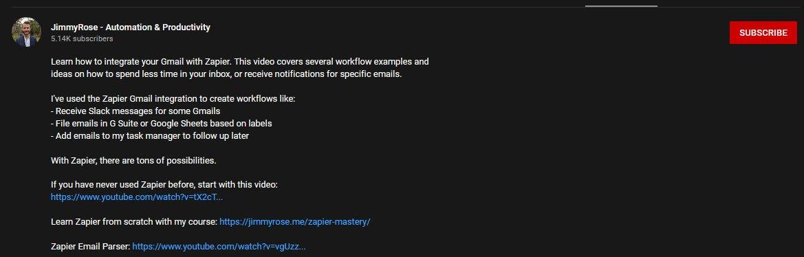 youtube video desciption example